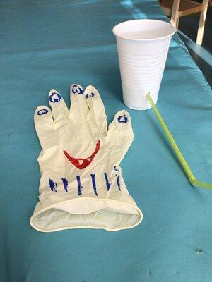 Fotoalbum Handschuh Monster