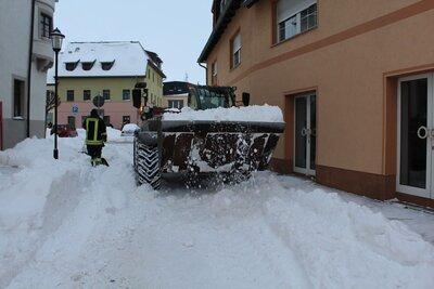 Fotoalbum Winter 2021 Schneeräumung Markt