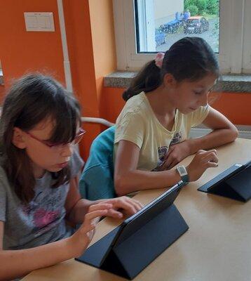 Fotoalbum Unterricht mit den neuen Tablets