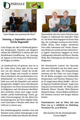 Fotoalbum OPERNALE in Bagemühl