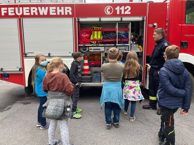 Fotoalbum Klasse 4, Feuerwehr