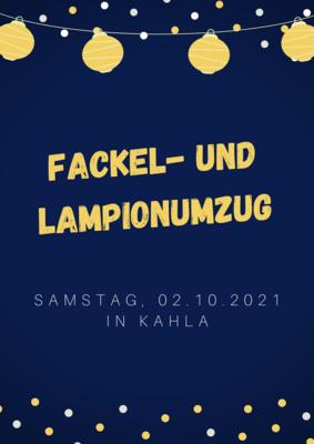 Grafik: Amt Plessa - Fackel- und Lampionumzug