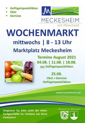 Plakat Wochenmarkt