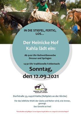 Plakat zum Reitertag