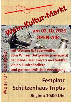 Plakat WeinKulturMarkt