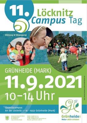 Plakat Campusfest am 11.09.2021, Foto: Gemeinde Grünheide (2), fotolia.com/Billionphotos.com, Hinweis: Veranstaltungsrelevante Information der Abbildungen finden Sie barrierefrei im Fließtext der Veranstaltung auf dieser Seite.
