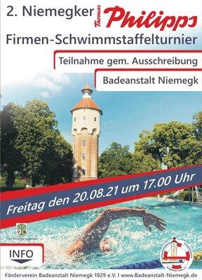 Plakat für das Firmen-Schwimmstaffelturnier