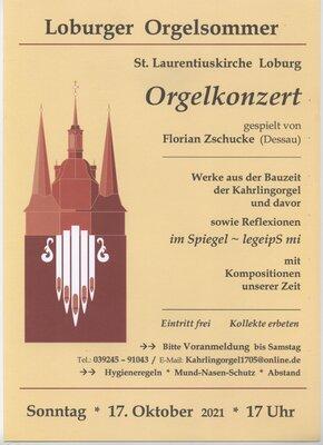 Loburger Orgelsommer am 17.10.2021