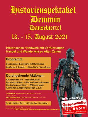 Flyer zum Historienspektakel