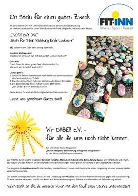 Auf dem Plakat ist die Aktion des FIT-INN Mörlenbach sowie der Verein Wir DABEI! beschrieben.