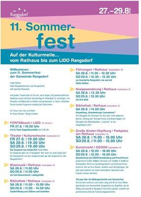 Programm Sommerfest