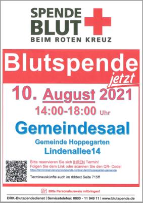 Flyer zum Blutspendetermin