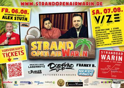 Plakat zum Strand Open Air