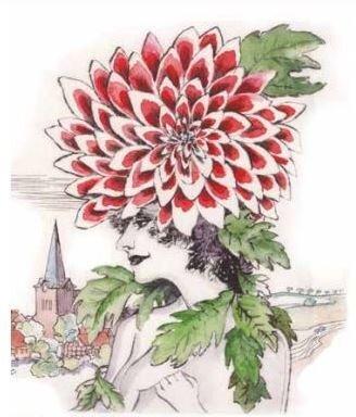 Dahlienfrau, entworfen von Inge Jastram