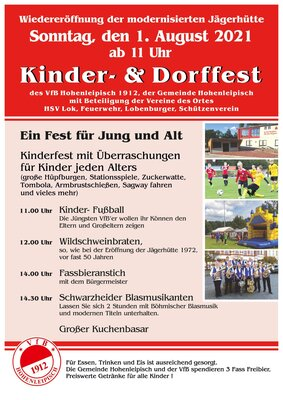 Plakat Kinder- und Dorffest