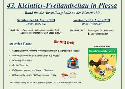 Plakat 43. Kleintier-Freilandschau in Plessa