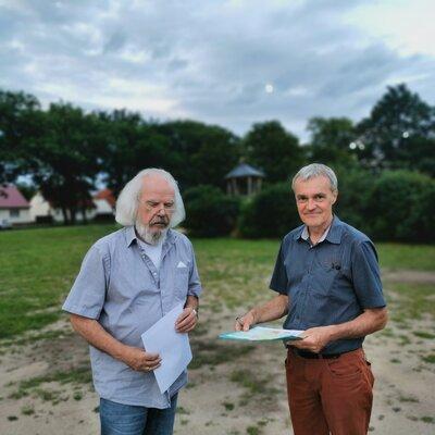 Bernhard Wendel km Gespräch mit Prof. Jürgen Peters Peters