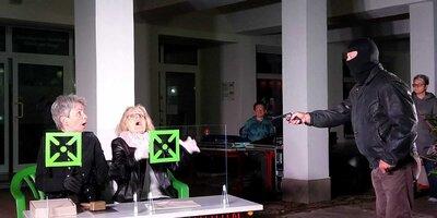 Amateurbühne in Aktion zur Kulturnacht 2020