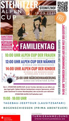 Plakat zum Familientag und 1. AlpenCup