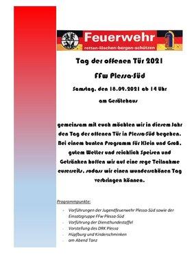 Foto: Flyer FFw Plessa-Süd