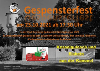 Plakat Gespensterfest am 23.10.2021