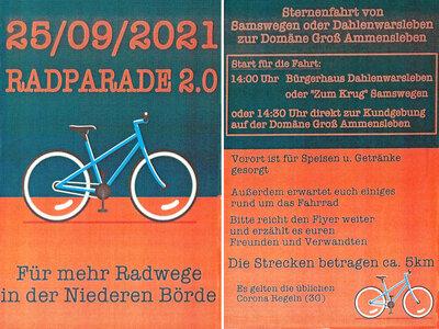 Flyer Radparade 2.0