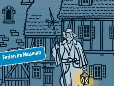 Ferien im Museum, Nachtwächter, Illustration Sönke Hollstein