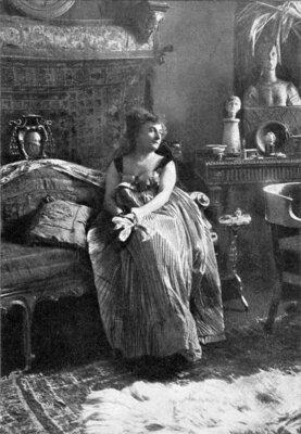 Hermione von Preuschen auf einer Fotografie vom 04.01.1905