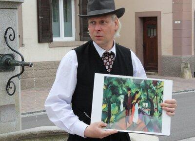 wigand Neumannin seiner Rolle als August Macke