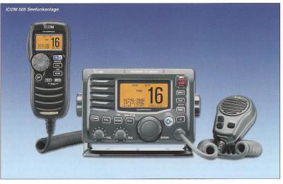 Die Prüfung erfolgt an unseren Icom 505 - Geräten