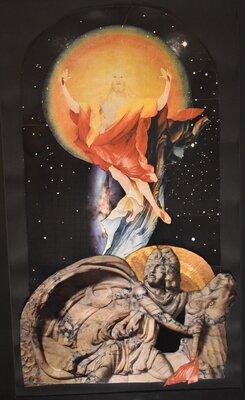 Helga Ruppert-Tribian: Duell an der Zeitenwende, Collage 1992