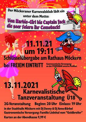 MKK Schlüsselübergabe und Karnevalistische Tanzveranstaltung