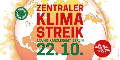 Zentraler Klimastreik - Plakat