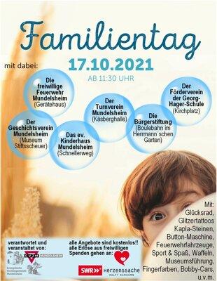 Familientag am 17.10.21