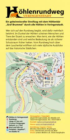 Höhlenrundweg Karte