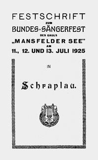 Festschrift Bundessängerfest 1925 in Schraplau