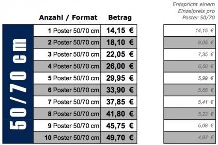 Staffelpreise 50/70cm