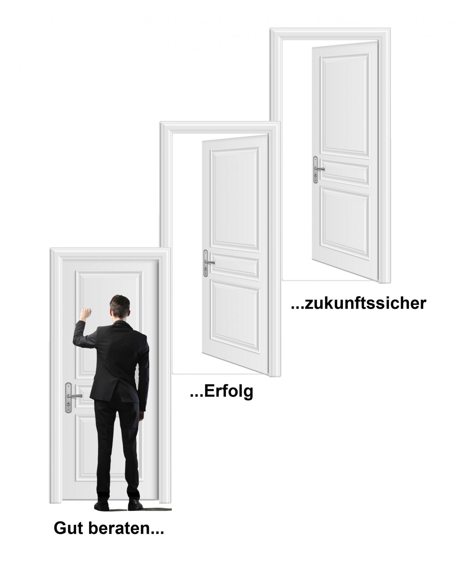 Mann mit Tür