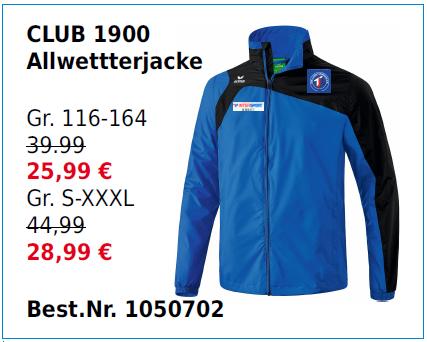 Club 1900 Allwetterjacke