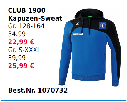 Club 1900 Kapuzen_sweat