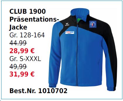 Club 1900 Präsentationsjacke
