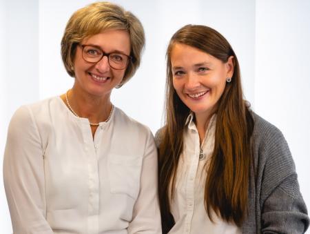 Im Sekretariat: Heike Reckendrees und Melanie Wenner