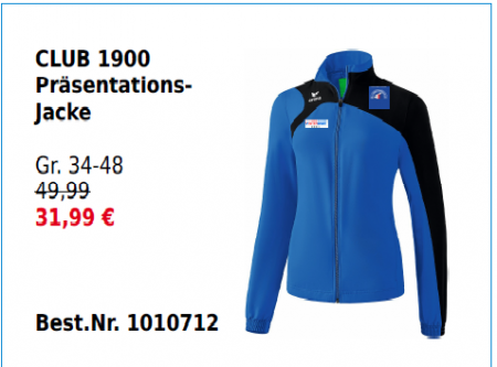 Damen Club 1900 Präsentationsjacke
