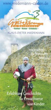 Flyer: Gästeführungen in Nordhessen