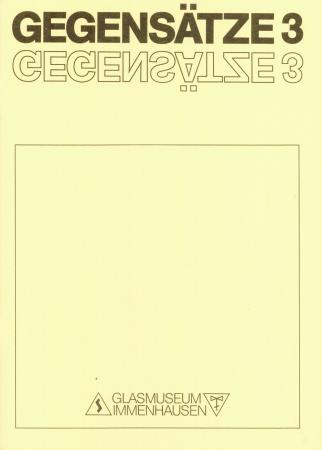 GEGENSÄTZE 3