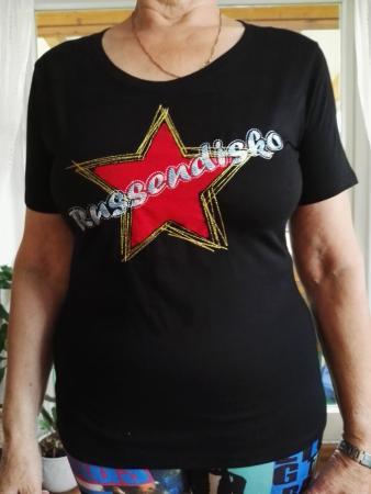 Shirt mit rotem Einsatz