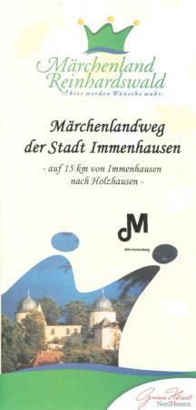 Flyer: Märchenlandweg der Stadt Immenhausen