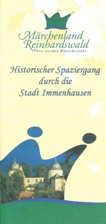 Flyer: Historischer Spaziergang durch die Stadt Immenhausen