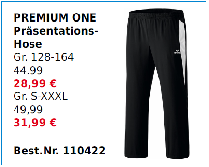Premium One Präsentationshose