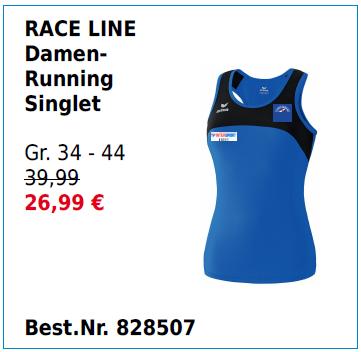 RACE LINE Damen-Running Singlet